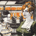 Fan Art Thursday 3/21/13  Peggy and Joan by Dan Panosian