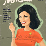 "Fan Art Thursday 9/19/13 Mad Men Magazine Series by Aaron Kirby-""Megan"""