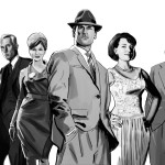 Fan Art Thursday: Mad Men in B&W
