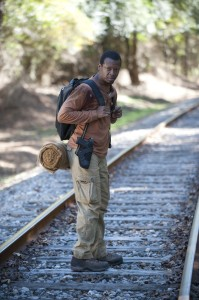 The Walking Dead: Alone -- Bob on the tracks