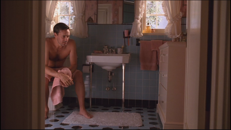 """Mad Men """"Maidenform"""" Don in the bathroom"""