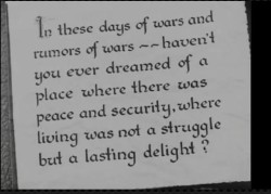 """Caught in war, wanting peace"""