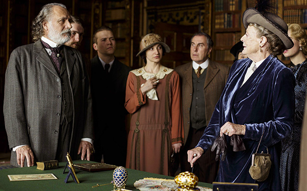 Downton Abbey, the Dowager Countess meets her Russian Prince